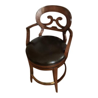 Woodbridge Furniture Armless Bar Stool For Sale