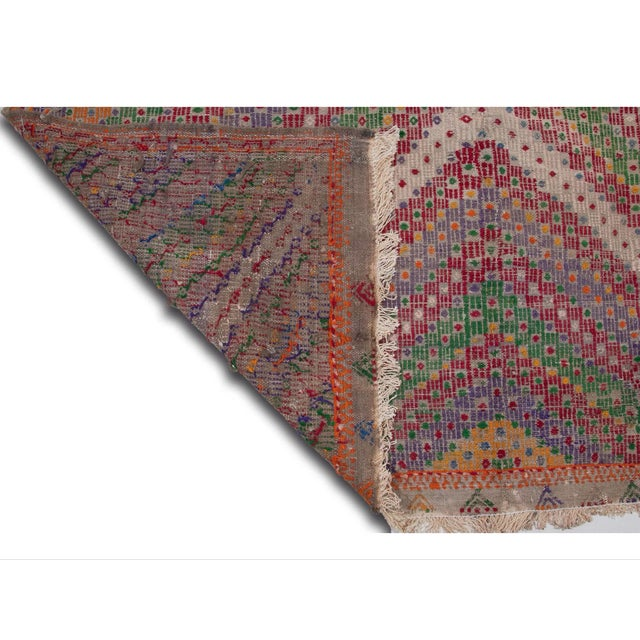 Vintage Flat Weave Turkish Kilim - 6′4″ × 9′11″ - Image 4 of 7
