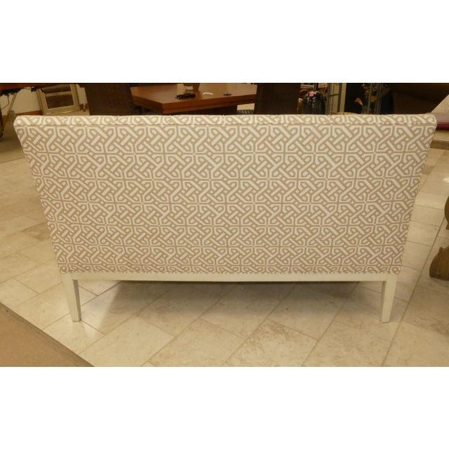 2000 - 2009 Hickory Chair Upholstered Dining Bench . Banquette . Settee . Loveseat For Sale - Image 5 of 11