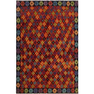 1990s Southwestern Balouchi Ferdinan Rust/Gray Wool Rug - 5'6 X 7'9 For Sale