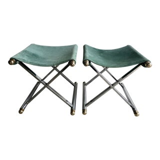 20th Century Maison Jansen Style X Benches - a Pair For Sale