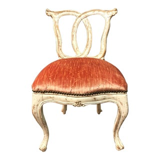 18th Century Italian Slipper Chair For Sale