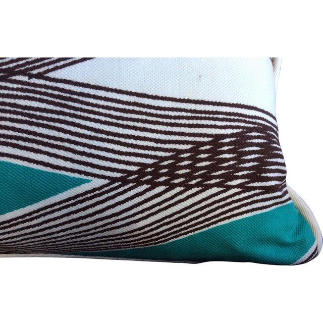 Mid-Century Modern Waves Lumbar Throw Pillow - Image 5 of 7