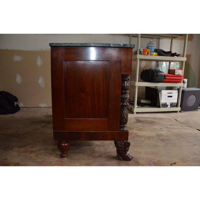Antique French Style Claw Foot Marble Top Commode For Sale - Image 4 of 8