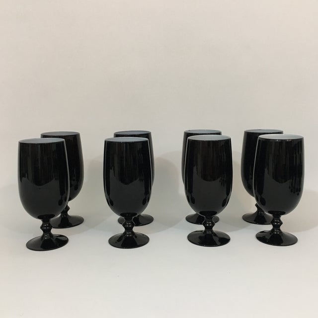 Vintage Carlo Moretti Black and White 20 Piece Glassware Set For Sale In New York - Image 6 of 13