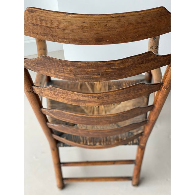 Early 20th Century Extended Ladder Farm Back Chair For Sale - Image 4 of 9