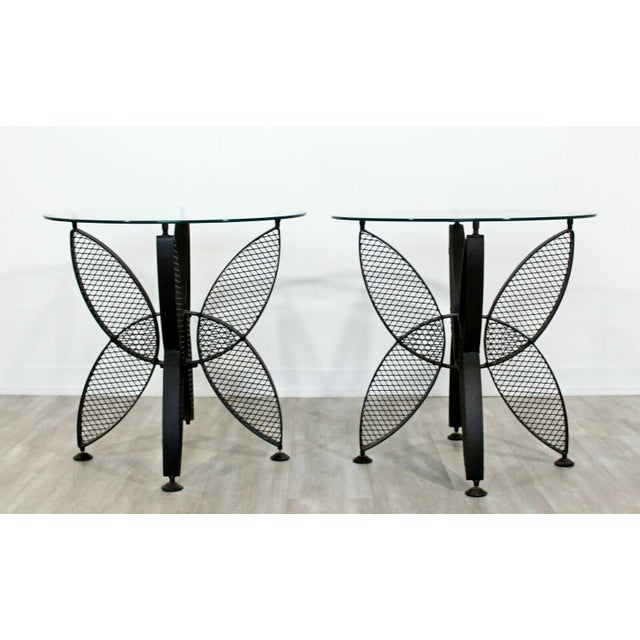 1960s Mid Century Modern Tempestini Salterini Butterfly Patio Pair Side Tables 1960s For Sale - Image 5 of 12
