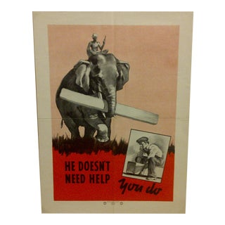 Vintage National Safety Council Poster For Sale
