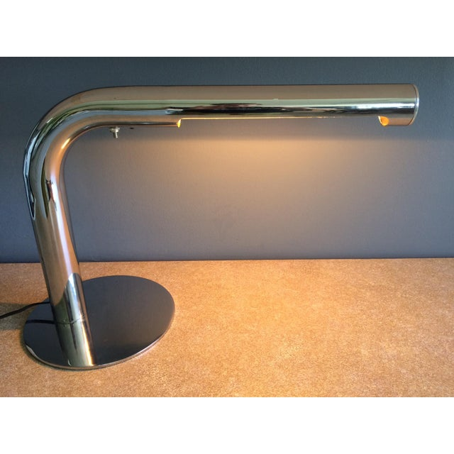 Sonneman Lighting Robert Sonneman Chrome Desk Lamp - Circa 1970s For Sale - Image 4 of 12
