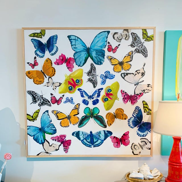 Brighten any space with this show-stopping original painting by artist Lindsay Ekstrom of LX Art. The saturated colors of...