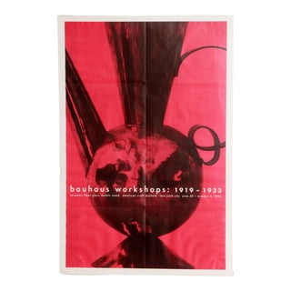 1990s Bauhaus Workshops American Craft Museum Exhibition Poster For Sale