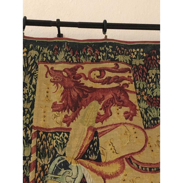 1960s 1960s French Style Tapestry For Sale - Image 5 of 8