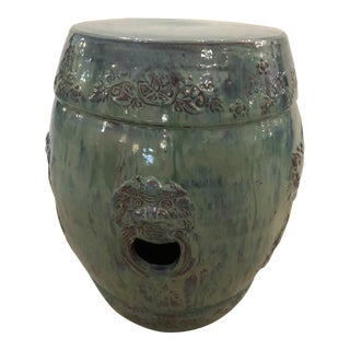 Asian Turquoise Ceramic Garden Seat