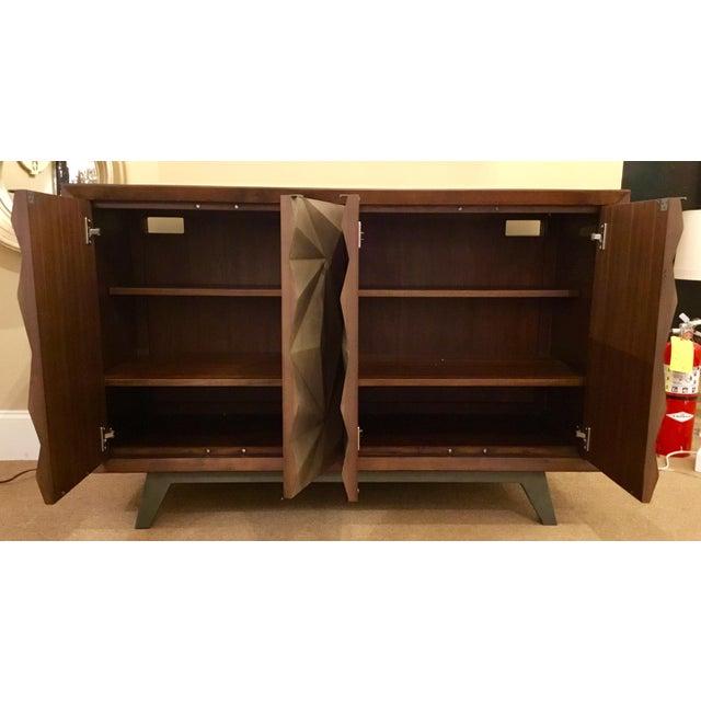 Metal Modern Wood Raised Door Cabinet For Sale - Image 7 of 8