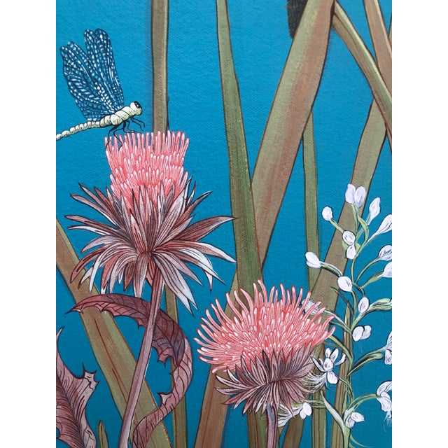 """""""Nothing to Egret"""" Modern Chinoiserie Painting by Allison Cosmos For Sale - Image 9 of 9"""