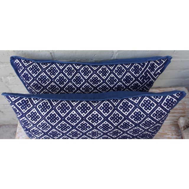 Pair of Cotton Woven Hmong Pillows. - Image 5 of 6