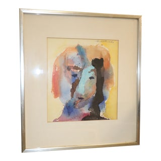 1970s Vintage Humpert Howard Watercolor Painting For Sale