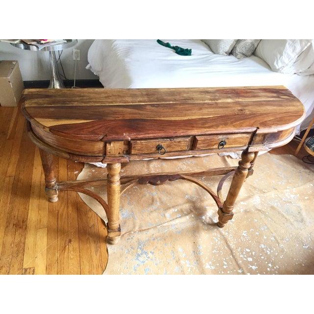 Antique Oak Hall Desk - Image 2 of 7