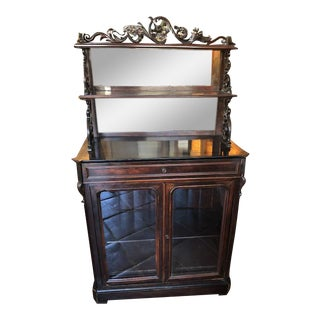 Antique Rosewood Display Cabinet For Sale