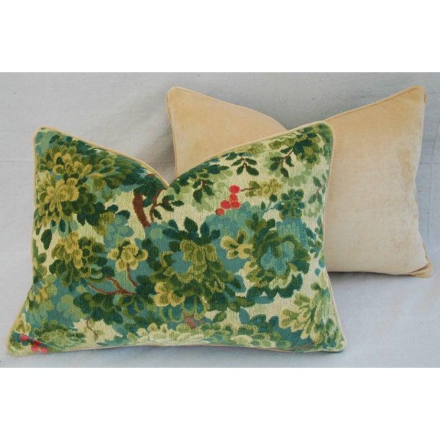 Designer Scalamandre Velvet Marly Pillows - Pair - Image 9 of 11