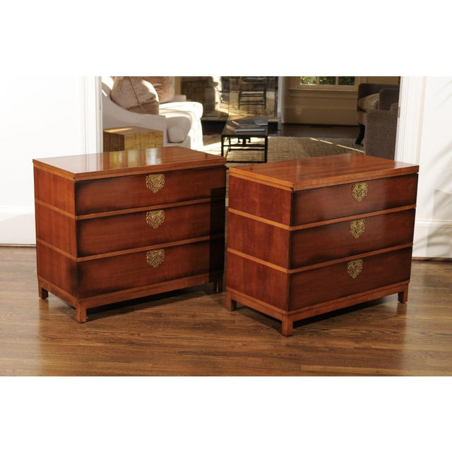 Chic Restored Pair of Michael Taylor Style Chests, Circa 1957 For Sale - Image 9 of 13