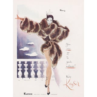 Matted Mid-Century Sexy Lingerie Advertising Print For Sale