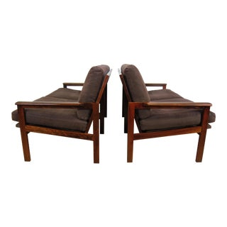 Illum Wikkelso Rosewood Capella Settees - a Pair For Sale