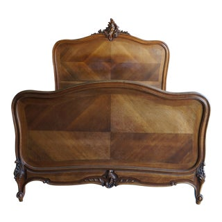 Early 20th Century Antique French Rococo Style Full Bed For Sale