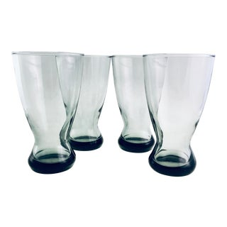1970s Modern Smoked Blown Glasses - Set of 4 For Sale