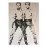"Image of Andy Warhol Estate Rare Vintage 1989 Pop Art Lithograph Print "" Two Elvis "" 1963 For Sale"