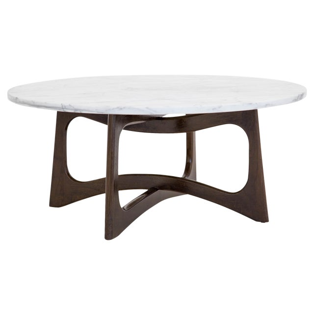 Adrian Pearsall Marble Top Coffee Table For Sale