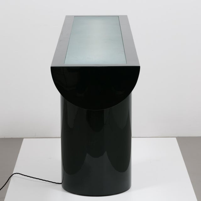 A Lacquered Cantilevered Console Lightbox 1970s - Image 4 of 10
