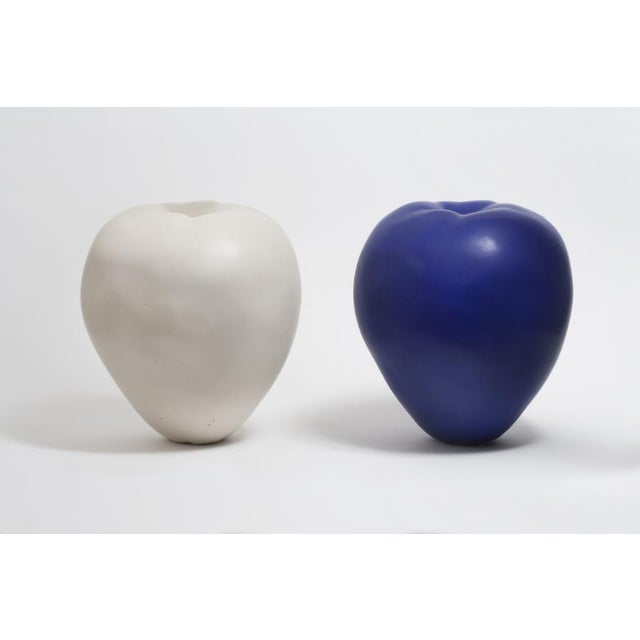 Contemporary Anat Shiftan (Israeli – American, B. 1955) Apples in White and Blue, 2013 For Sale - Image 3 of 4