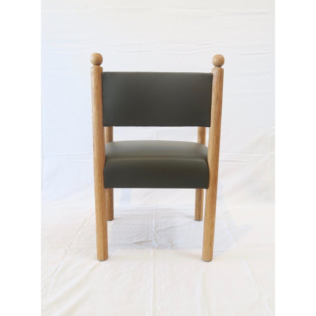 Rustic Modern Style Dining Chair With Turned Finals by Martin and Brockett For Sale - Image 4 of 7