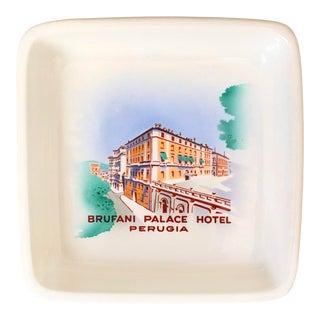 Richard Ginori Brufani Palace Hotel Perugia Italian Porcelain Ashtray For Sale