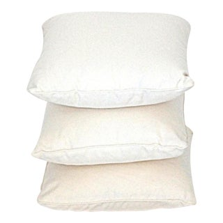Contemporary Custom Frette LInen Pillow Trio in White - Set of 3