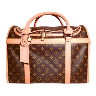 2000s Vintage Louis Vuitton Dog Carrier 40 - Monogram Canvas For Sale