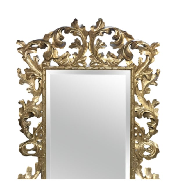1900 - 1909 1900s Mid-Century Modern Lawson Fenning Gilt Carved Mirror For Sale - Image 5 of 6