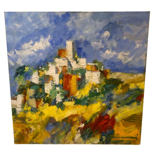 """19th Century French Painting """"Gents a St Cezaire"""" For Sale In Dallas - Image 6 of 6"""