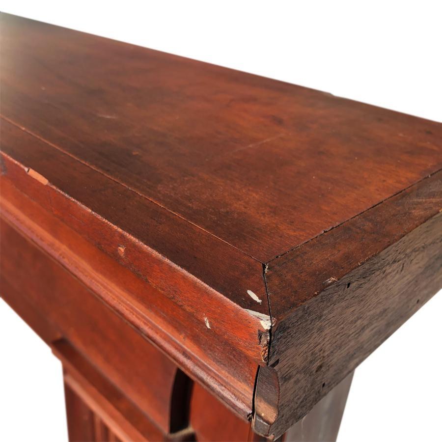 Late 19th Century Federal Black Walnut Fireplace Mantel Chairish