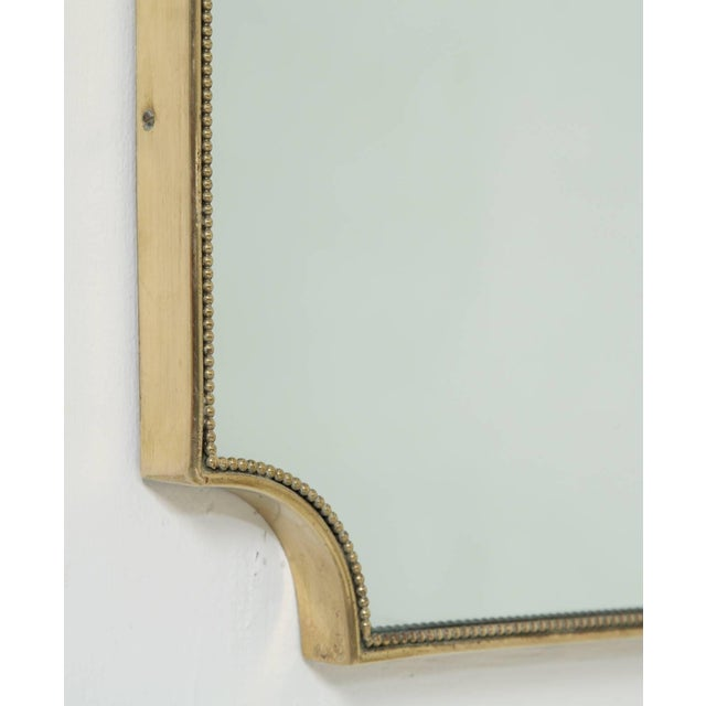 Italian 1950s Brass Framed Mirror For Sale - Image 4 of 5