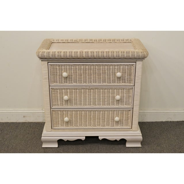 20th Century Country Pennsylvania House White Wicker Nightstand For Sale - Image 13 of 13