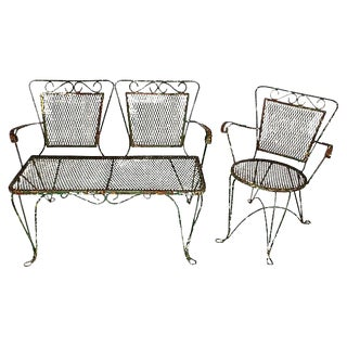 1930s Wrought Iron Garden Set