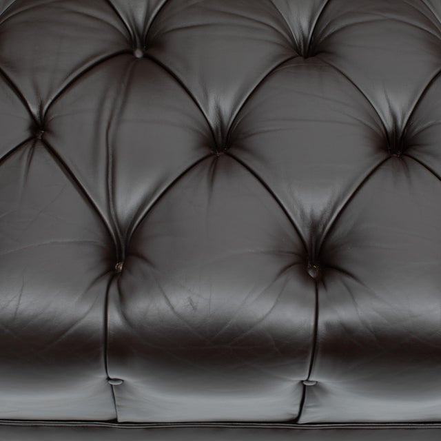 Wood Ward Bennett Button-Tufted Leather Sofa for Lehigh Furniture, Circa 1960s For Sale - Image 7 of 13