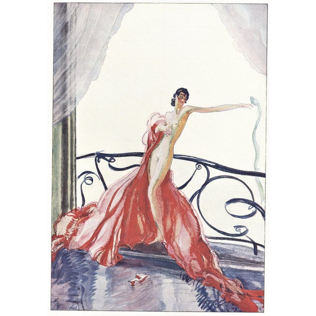 Jean Gabriel Domergue Matted French Art Deco Seductive Nude Print For Sale - Image 4 of 4