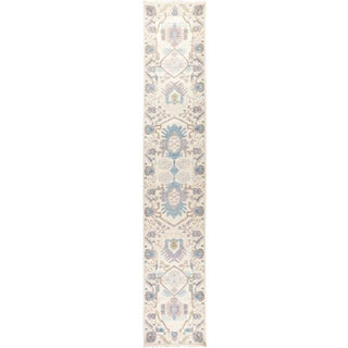 Ivory Art Deco Runner Rug For Sale