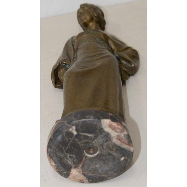 Gold Arnold Katsch (German 1861-1928) Art Nouveau Bronze C.1912 For Sale - Image 8 of 9