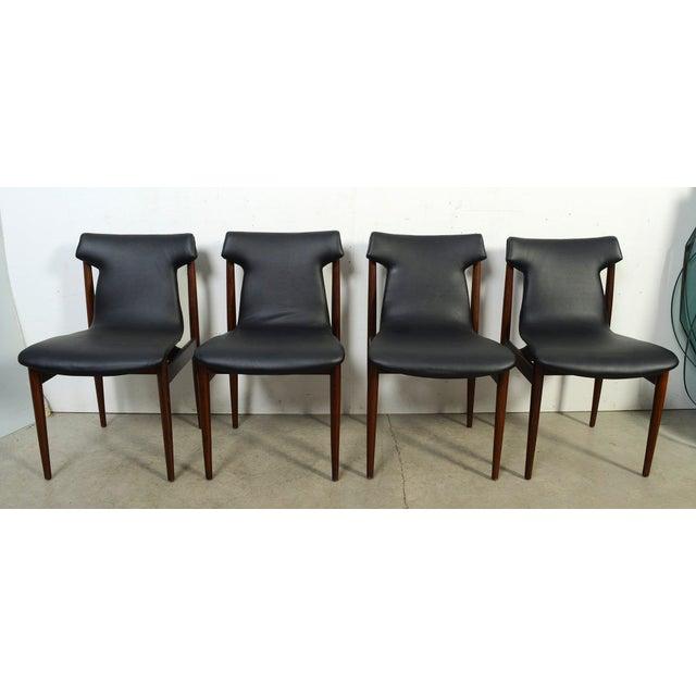 Danish Modern 1960s Vintage Klingenberg for Fristho Danish Modern Rosewood Dining Chairs- Set of 4 For Sale - Image 3 of 10