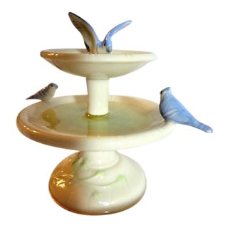 Lenox Blue Birds in Fountain Bird Bath Figurine For Sale