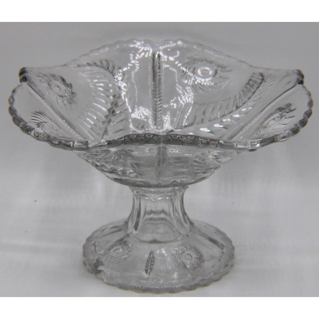 Mid-Century French Crystal Cut Glass Compote For Sale - Image 13 of 13